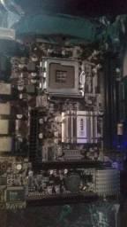 Placa mãe LGA 775 + Processador dual core E7500
