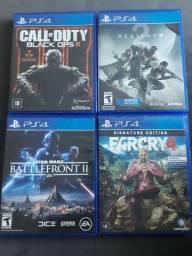 Jogos PS4 - 4 jogos usados