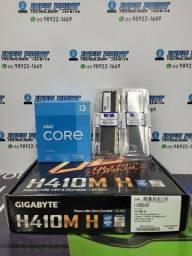 Kit i3 10105f + Placa Mãe H410m H + Memória Ram 8gb  - Novo Lacrado com Garantia 1 ano
