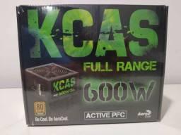 Fonte Aerocool kcas 600w pfc ativo 80 plus bronze