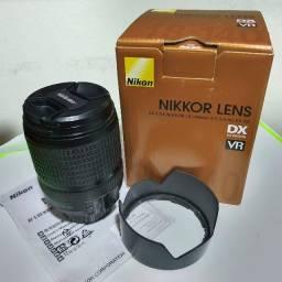 Lente Nikon 18-140 mm perfeita