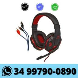 Fone Headset Gamer Knup com Led