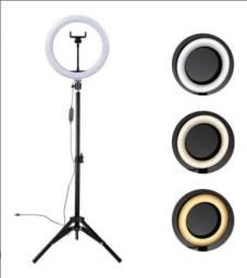 Ring Light LED com Tripé e Suporte Celular