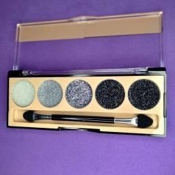 Paleta de Glitter Eyeshadow 5 Cores Vivai