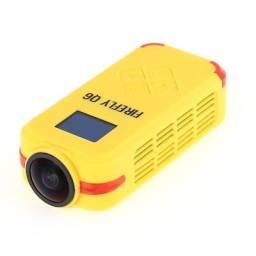 <br>Camera HawKeye Firefly Q6 4K Câmera de Ação Esportiva DV - Amarelo
