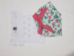 Conjunto para menina de short e blusa