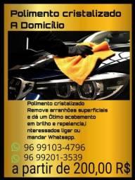 Polimento cristalizado/A Domicílio A partir de 200,00
