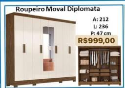 Guarda Roupa Roupeiro Moval Diplomata 8 portas 59494