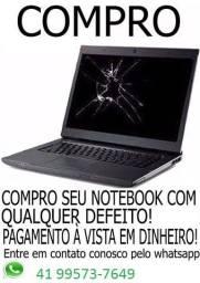 Notebook com defeito - pagamento em dinheiro