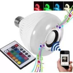 Lâmpada Musical LED RGB com Alto Falante Bluetooth e Controle