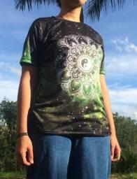 Camisa Mandala Yin Yang Verde