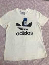 Camiseta adidas Originals Trefoil Branca Feminina