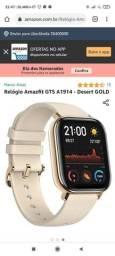 vendo relógio Amaz Fit<br>Dourado <br>Apenas um mês de uso