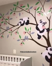 Adesivos de parede Panda