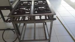 Fogão industrial 4 bocas - Itajobi