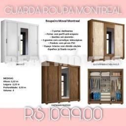 Guarda roupa Montreal 3 portas deslizantes guarda roupa Montreal 3 portas deslizantes