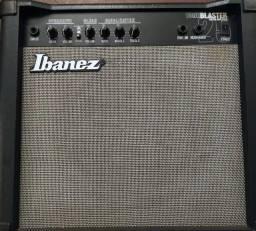 Amplificador cubo guitarra Ibanez Toneblaster 25R com reverb de molas