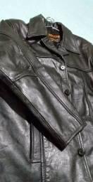Jaqueta de couro verdadeiro
