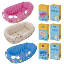 Banheira Inflável Para Bebê C/indicador De Temp. Mor Cores