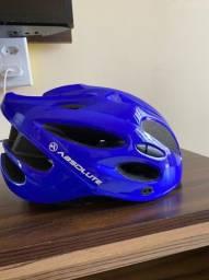 Capacete Ciclismo Absolute Nero Azul praticamente NOVO 2 meses de uso