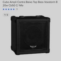NOVO! Cubo Ampli Contra Baixo Top Bass Voxstorm 8'' 20w Cb50