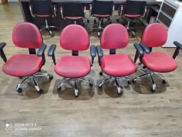 Cadeiras para Escritório Base Cromada