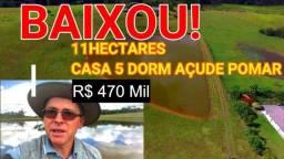 Sítio em Glorinha 11 Hectares  Casa 5 Dorm Açude Pomar R$ 470 Mil