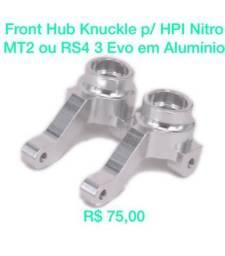 Front Hub Knuckle Em Alumínio P/ Hpi Nitro Mt2 Ou Nitro Rs4 3 Evo