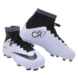 Chuteira Nike Botinha Campo CR7 Pronta Entrega 3448ad568080c