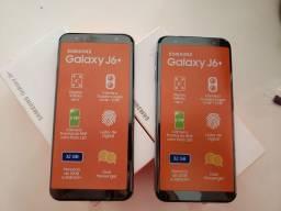 """Galaxy J6+ Preto/Prata 32GB, Tela infinita de 6"""","""
