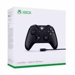 Oferta Controle Xbox One S Preto Com Cabo Original Bluetooth e P/2 , Pronta Entrega