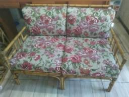 Conjunto de sofá de bambú