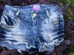 Short jeans tamanho 40 com strech