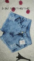 Shorts jeans (lote com 23 unid)