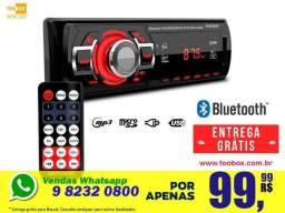 Som Automotivo Knup - Bluetooth, SD, FM - Passa Pasta - Entrega Grátis em Maceió