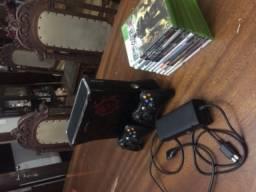 Xbox 360 Slim 250Gb 2 controles + jogos originais