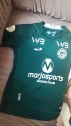 Camisa do goias original usada jogo contra cruzeiro pelo jogador Gilberto .tamanho m