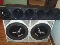 Caixa de som Bomber de 15 bubina dupla