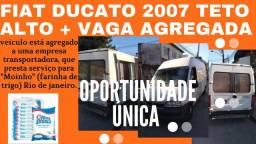 Fiat ducato 2007 teto alto alongada + vaga agregação em transportadora
