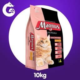 Ração Magnus Super Premium Gatos Castrados Sabor Salmão e Arroz Adimax Pet