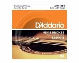 Encordoamento Daddario Bronze Aço Ez 900 b 010-050 extra light