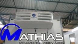 Equipamento de refrigeração acoplado e eletrico caminhao 3/4 Mathias implementos