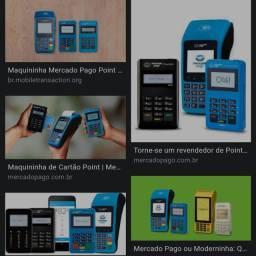 Máquina de cartão mercado pago e PagSeguro