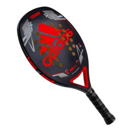 Raquete De Beach Tennis adidas Match 2.0 Preta E Vermelha