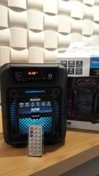caixa de som bluetooth 80w led lights