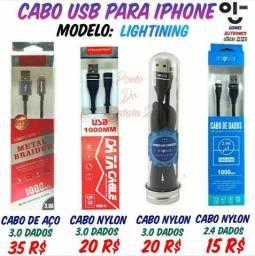 Cabo usb para iPhone 5s a 8s E varios outros Modelos - Cabo Usb Apple ( Loja Fisica  )