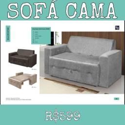 Sofá Cama Estofado Sala de Estar Quarto 858585