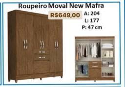 Roupeiro Moval New Mafra Roupas Guarda Roupa 3838