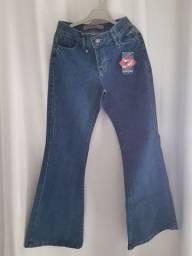 Calça jeans menina infantil tam 10 a 12 anos