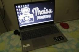 notebook e impressora de foto